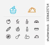 meal icons set. sandwich and...