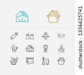 kitchenware icons set. salt... | Shutterstock .eps vector #1336625741