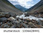 view from the chalaadi glacier... | Shutterstock . vector #1336628441