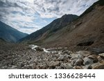 view from the chalaadi glacier... | Shutterstock . vector #1336628444