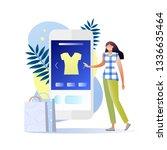 shopping online on mobile....
