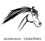 running mustang horse with... | Shutterstock .eps vector #1336639661