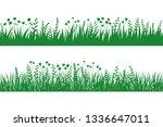 vector green grass  natural... | Shutterstock .eps vector #1336647011