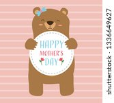 happy mothers day | Shutterstock .eps vector #1336649627