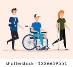 disabled people with physical... | Shutterstock .eps vector #1336659551