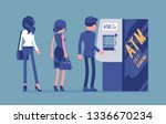 people standing in atm line.... | Shutterstock .eps vector #1336670234