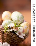 easter eggs with flower... | Shutterstock . vector #1336693484