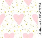 cute heart paint seamless... | Shutterstock .eps vector #1336699904