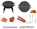 barbecue grill. barbecue grill... | Shutterstock .eps vector #1336709237