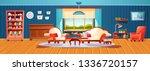 modern interior of cozy summer... | Shutterstock .eps vector #1336720157