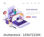 digital marketing. social... | Shutterstock .eps vector #1336721204