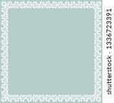 classic vector square frame...   Shutterstock .eps vector #1336723391
