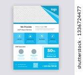 agency business flyer design... | Shutterstock .eps vector #1336724477