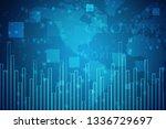 2d rendering stock market...   Shutterstock . vector #1336729697