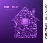 smart house concept. circuit... | Shutterstock .eps vector #1336733354