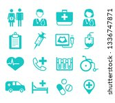 medical flat icons for web  app ...