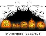 jack o lantern cartoon style... | Shutterstock . vector #13367575
