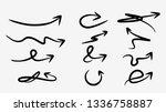 abstract arrow set element... | Shutterstock .eps vector #1336758887