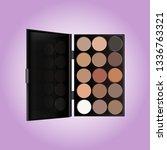 palette of shadows in nude tones | Shutterstock .eps vector #1336763321