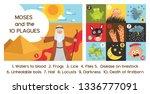 passover ten plagues of egypt... | Shutterstock .eps vector #1336777091