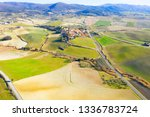 drone view of tuscany landscape ... | Shutterstock . vector #1336783724