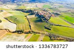drone view of tuscany landscape ... | Shutterstock . vector #1336783727