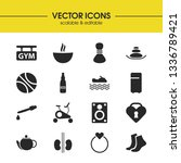 activity icons set with ale ...