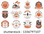 set of basketball club badge.... | Shutterstock .eps vector #1336797107