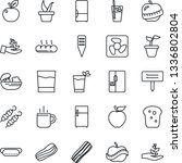 thin line icon set   hot cup...   Shutterstock .eps vector #1336802804