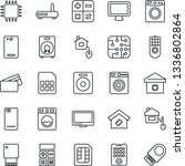 thin line icon set   washer... | Shutterstock .eps vector #1336802864