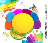 colorful abstract background... | Shutterstock . vector #133680614