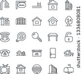 thin line icon set   office... | Shutterstock .eps vector #1336808081