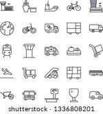 thin line icon set   airport... | Shutterstock .eps vector #1336808201