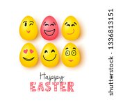 colorful easter eggs | Shutterstock .eps vector #1336813151