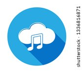 cloud and note icon with long...