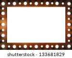 brown back stage light mirror... | Shutterstock . vector #133681829
