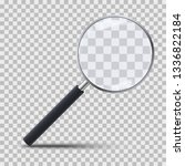 realistic magnifying glass on... | Shutterstock .eps vector #1336822184