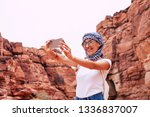 fairy selfie. woman with a... | Shutterstock . vector #1336837007