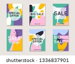 set media banners with discount ... | Shutterstock .eps vector #1336837901