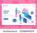 online store concept  people... | Shutterstock .eps vector #1336844024