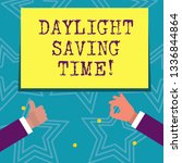 text sign showing daylight... | Shutterstock . vector #1336844864