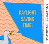 writing note showing daylight... | Shutterstock . vector #1336857371