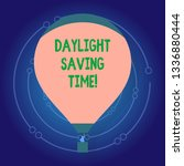 text sign showing daylight... | Shutterstock . vector #1336880444
