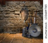 Old Room With Medieval Weapons...