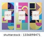 design templates for flyers ... | Shutterstock .eps vector #1336898471