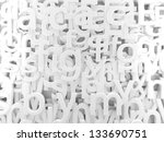 3d Background White Letters An...