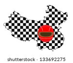 racing map china | Shutterstock .eps vector #133692275
