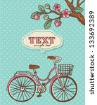 spring cycling card | Shutterstock .eps vector #133692389