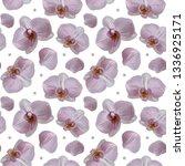 tender orchid flower polka dot... | Shutterstock . vector #1336925171