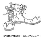 clown's shoes  hand drawn... | Shutterstock .eps vector #1336932674